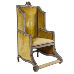 Louis XV Style Bergere or Armchair of Unusual Form, France, circa 1890