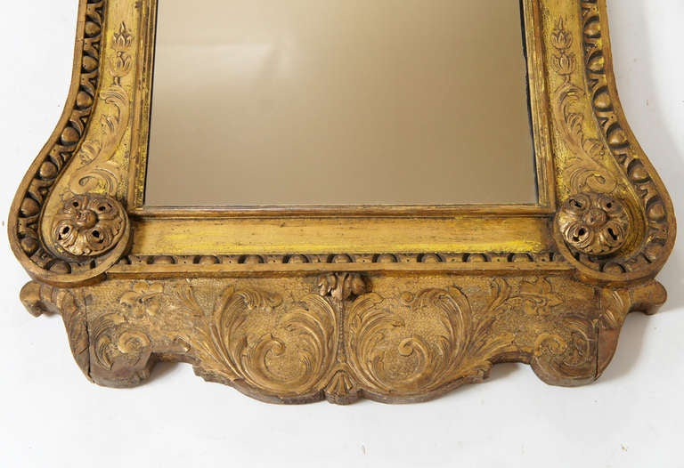 Exceptional George Ii Gilt Mirror In The Manner Of William