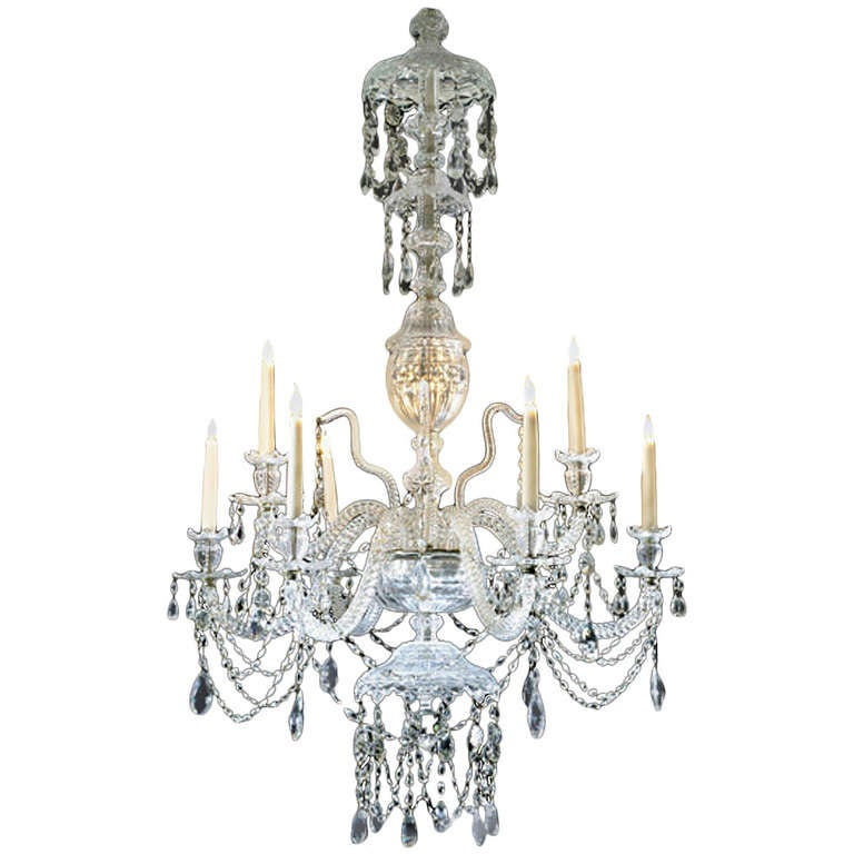 Glass Chandelier From The 19th Century For Sale At 1stdibs