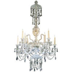 Glass chandelier from the 19th Century.