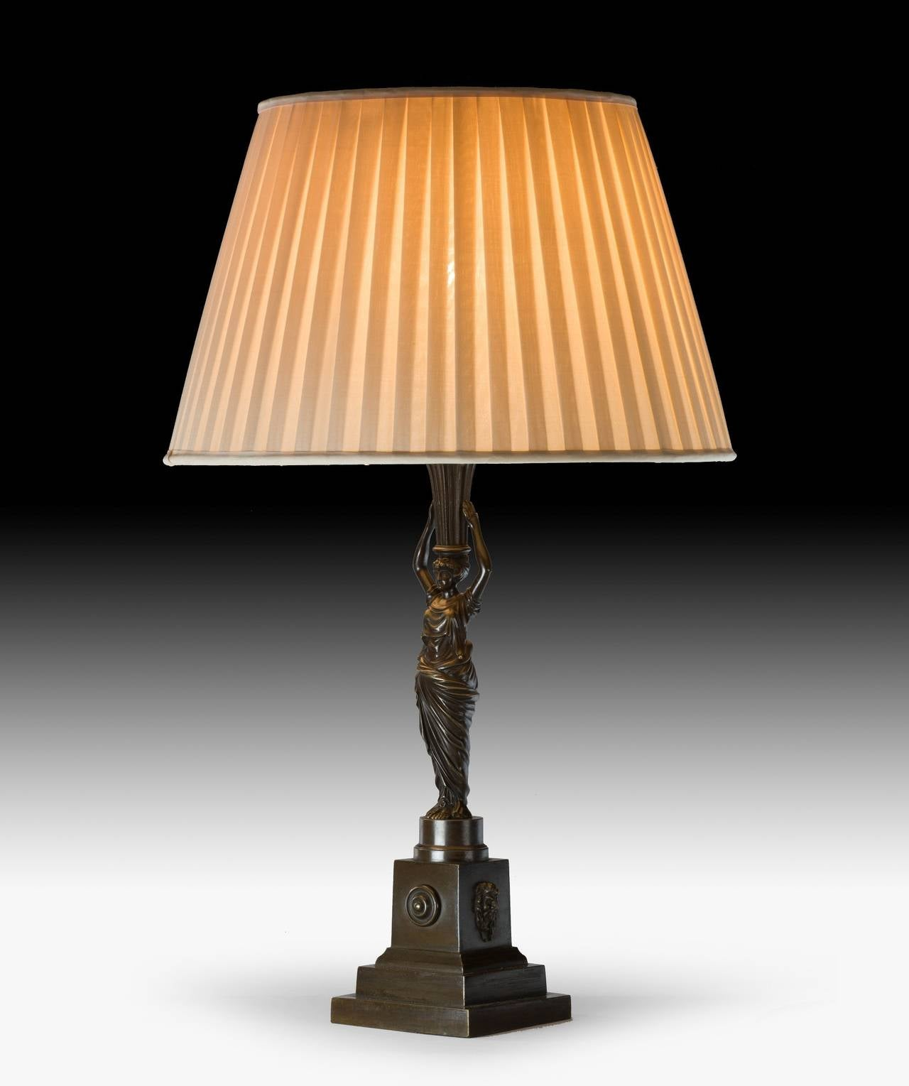 Regency Bronze Table Lamp At 1stdibs