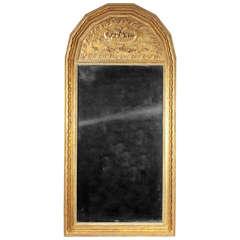 Scandinavian Antique 19th Century Giltwood Mirror