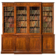 Antique Regency Breakfront Bookcase
