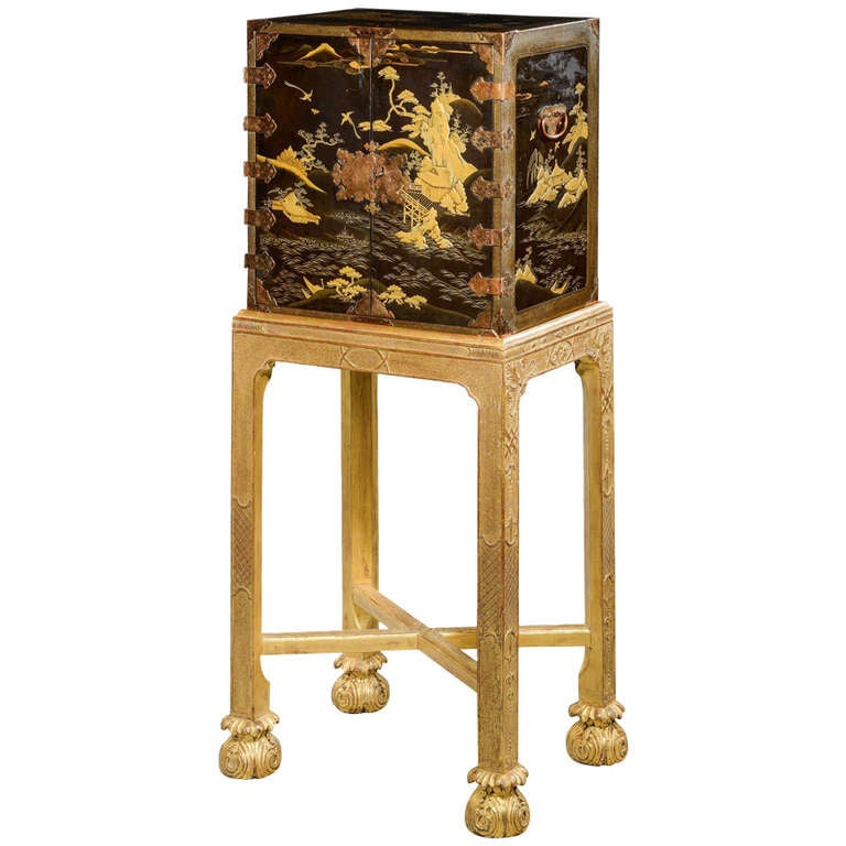 A Small Japanese Lacquer Cabinet On Stand At 1stdibs