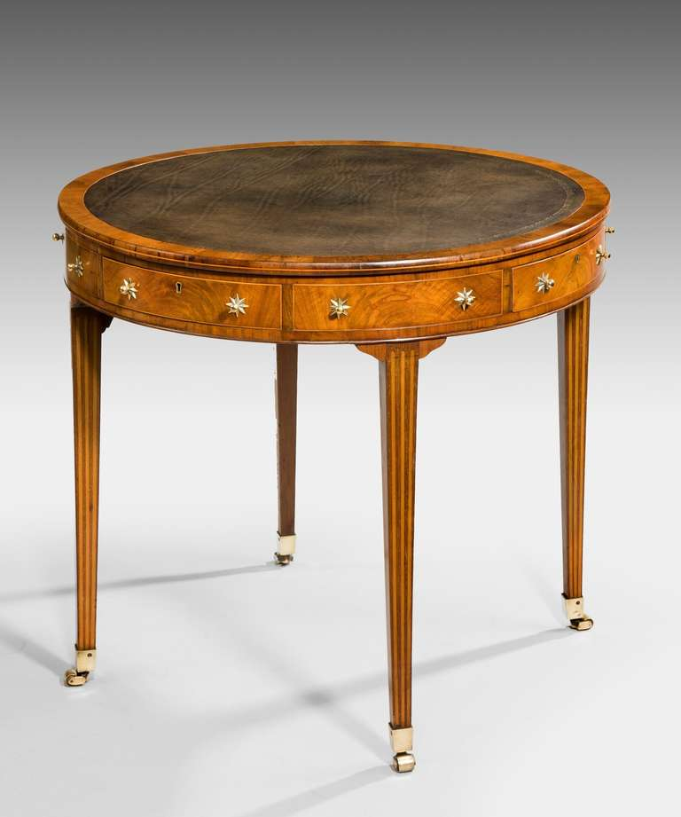 Irish Georgian Drum Table At 1stdibs