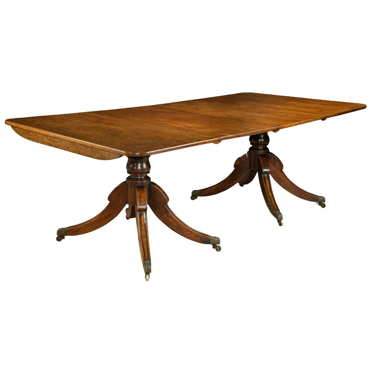 regency two pillar dining table at 1stdibs