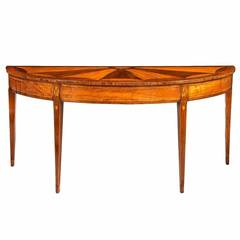 Sheraton Satinwood and Sycamore Console Table