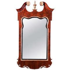 Antique George II Walnut Mirror