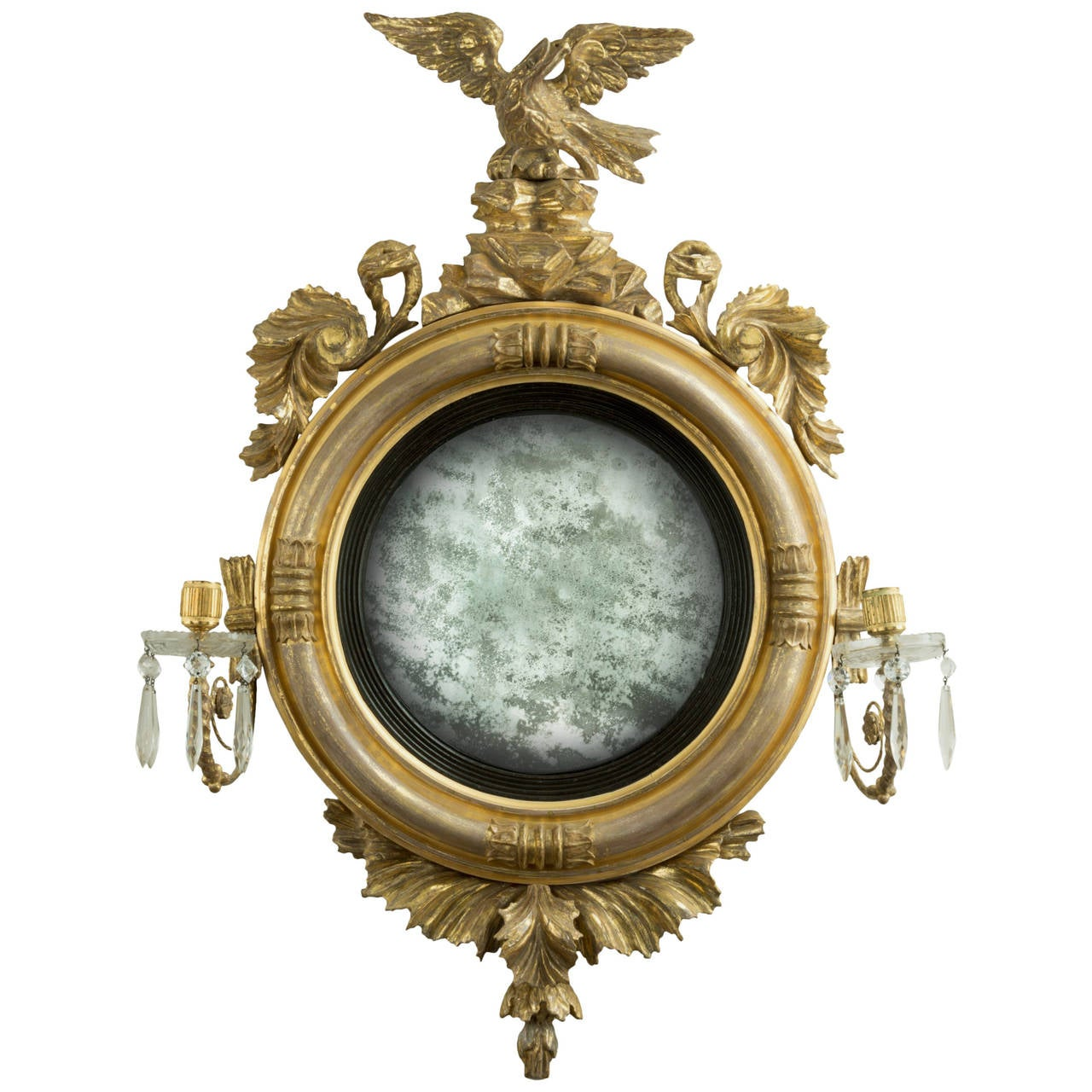 Regency convex mirror for sale at 1stdibs for Convex mirror
