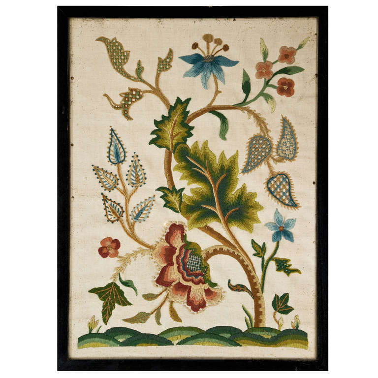 18th Century Crewelwork of Plants and Flowers