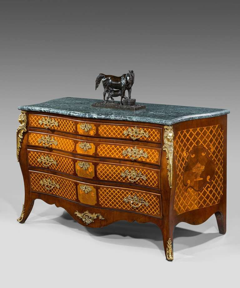 Georgian Marquetry Commode Chest Of Drawers For Sale At 1stdibs