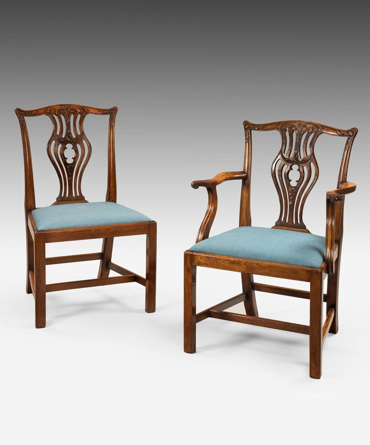 Chippendale Furniture: Set Of Eight Chippendale Dining Chairs For Sale At 1stdibs