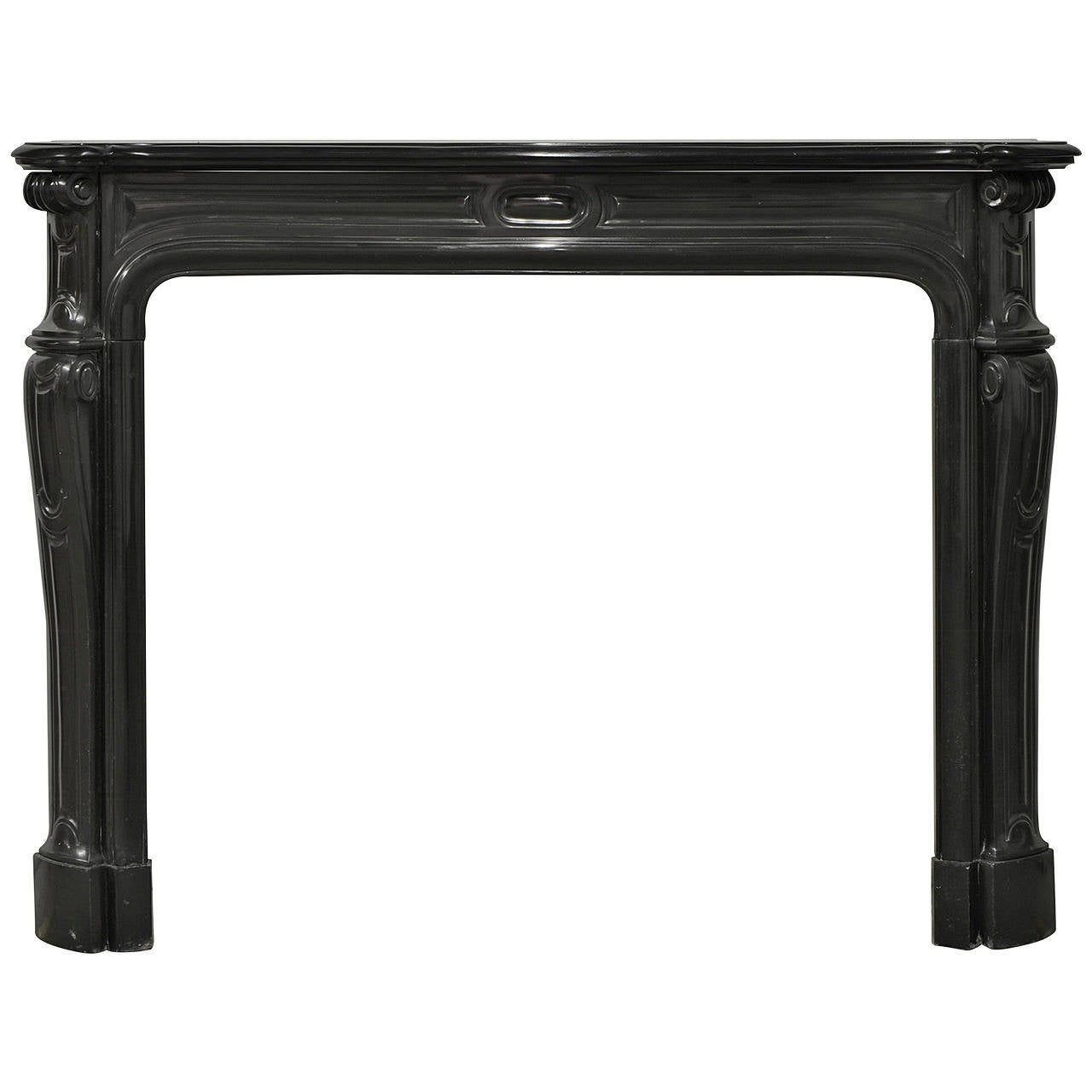 Antique 19th Century Black Marble Louis Xv Fireplace Mantel At 1stdibs