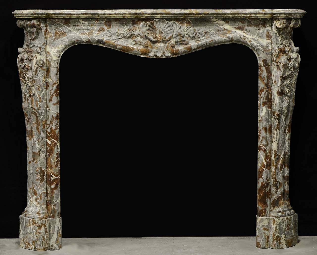 antique belgium louis xv fireplace mantel 18th century at