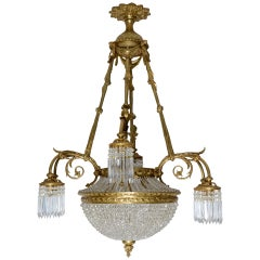 19th Century, French Louis XVI Antique Chandelier