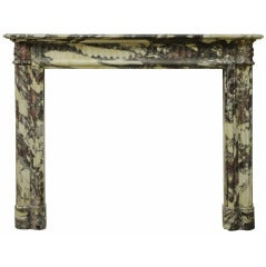 19th Century Rare Louis XVI Breche Violet Marble Fireplace