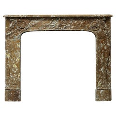 19th Century Rouge de Mazy Marble Louis XV Fireplace Mantel