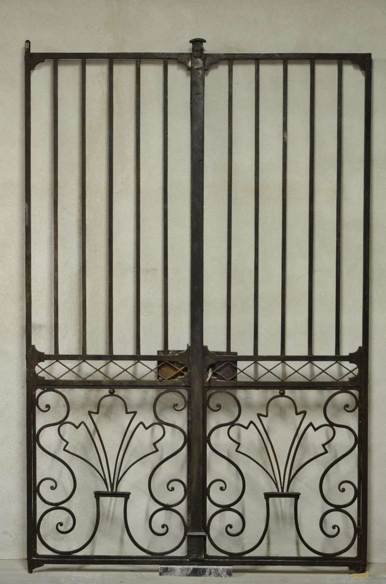 18th Century French Wrought Iron Gate With Key At 1stdibs