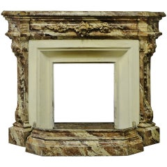 Small 19th Century Cast Iron Fireplace