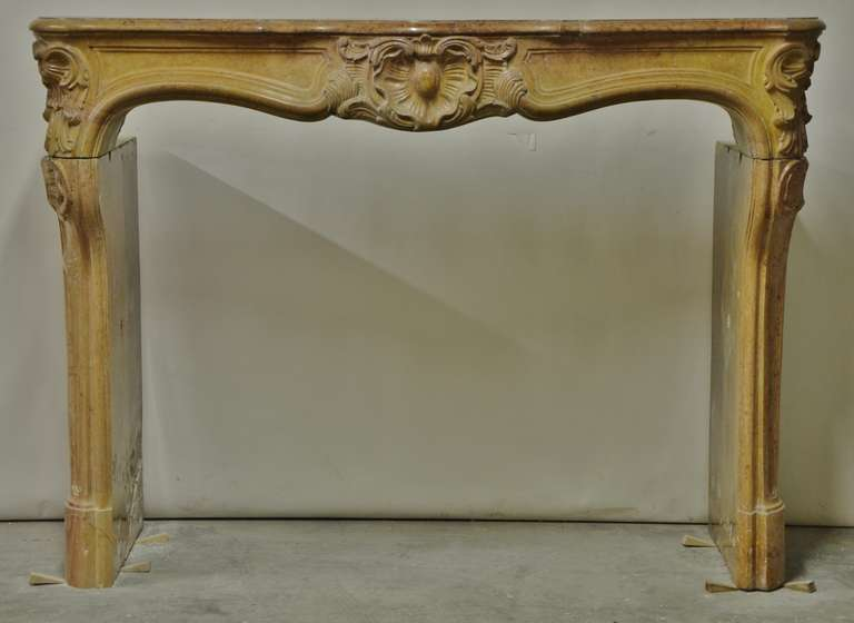 French Limestone Louis Xv Fireplace For Sale At 1stdibs