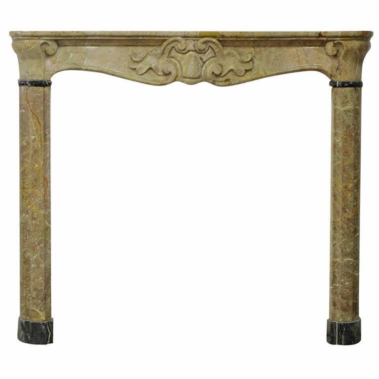 Small 18th Century Italian Marble Fireplace, Mantelpiece