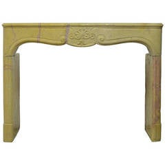 French Corton Violine Louis XV Fireplace
