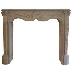 Very Decorative and Small 19th Century French Louis XV Fireplace MAntel
