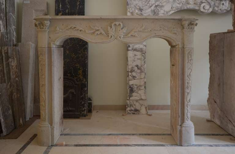 Very Decorative And Small 19th Century French Louis Xv Fireplace Mantel At 1stdibs