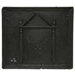 18th c. French Large Square Fireback