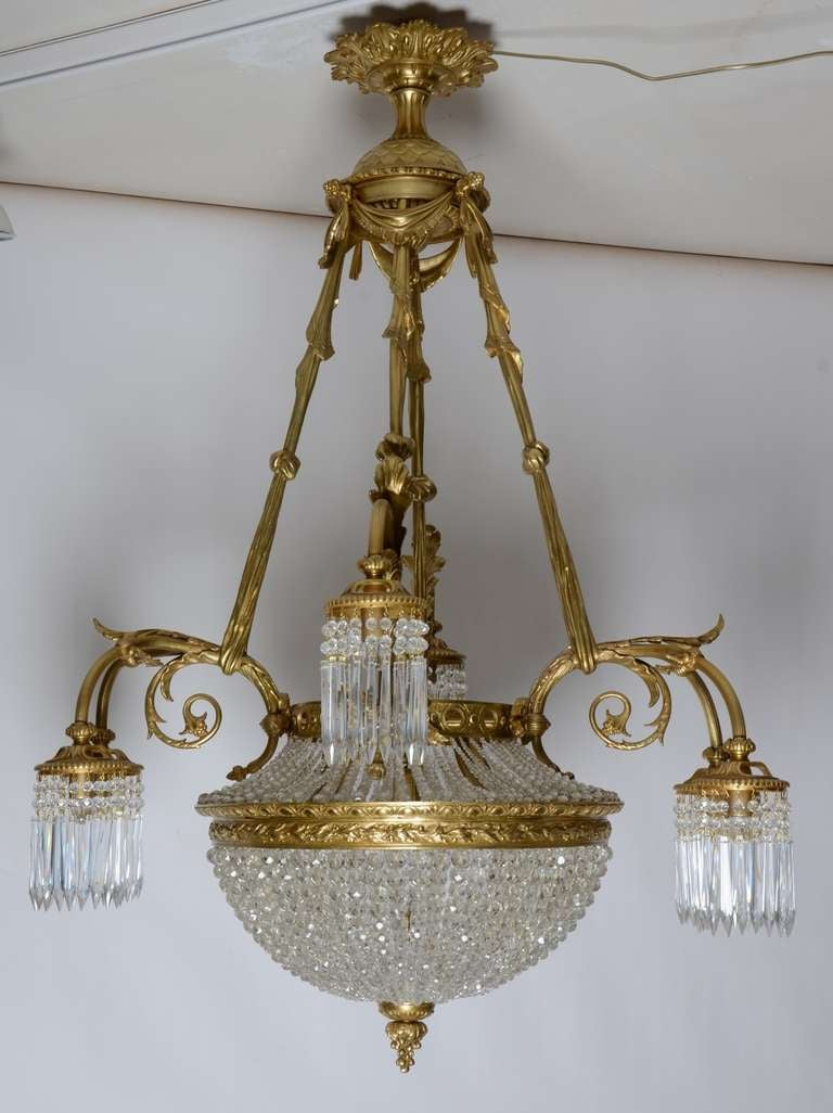 19th century french louis xvi antique chandelier at 1stdibs for Chandelier mural antique