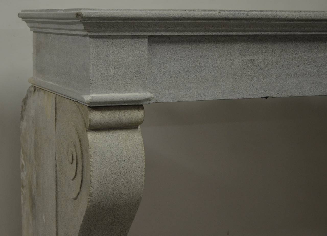 antique limestone fireplace mantel from the burgundy in