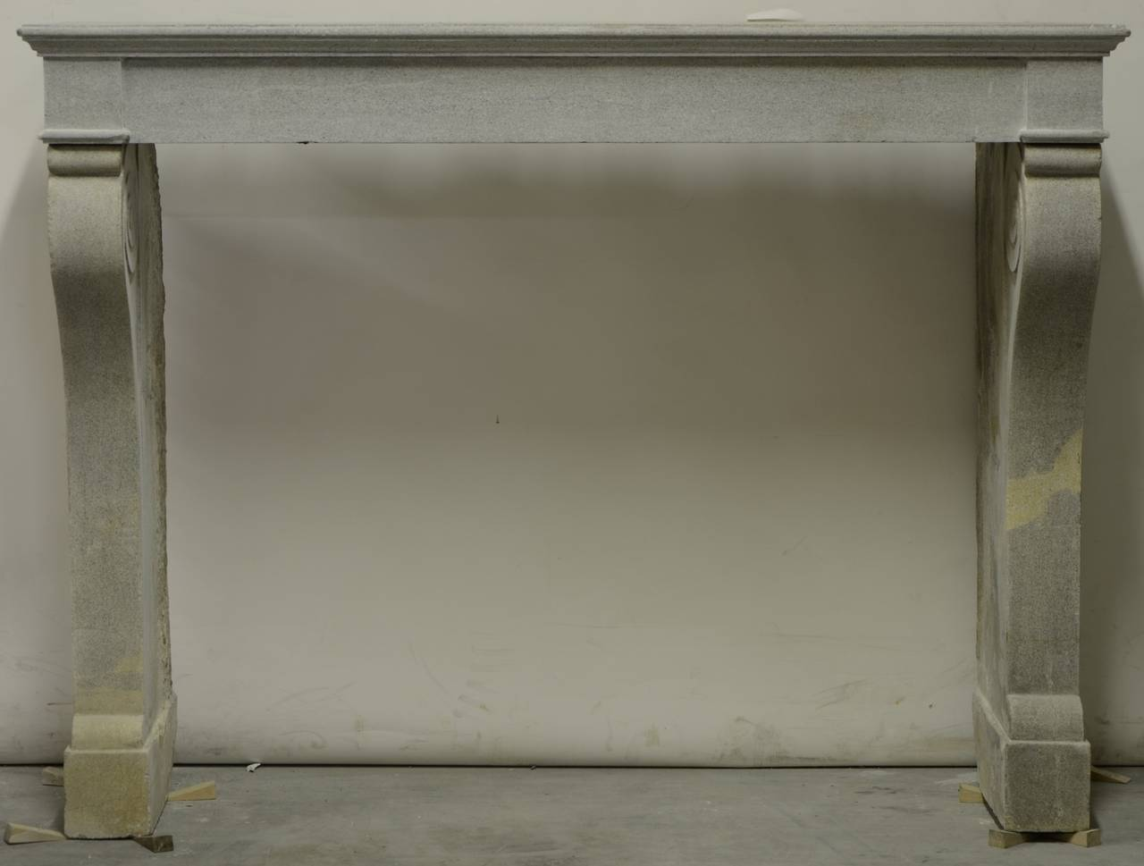 antique limestone fireplace mantel from the burgundy in france image