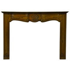 18th Century Louis XV Cherrywood Antique French Fireplace