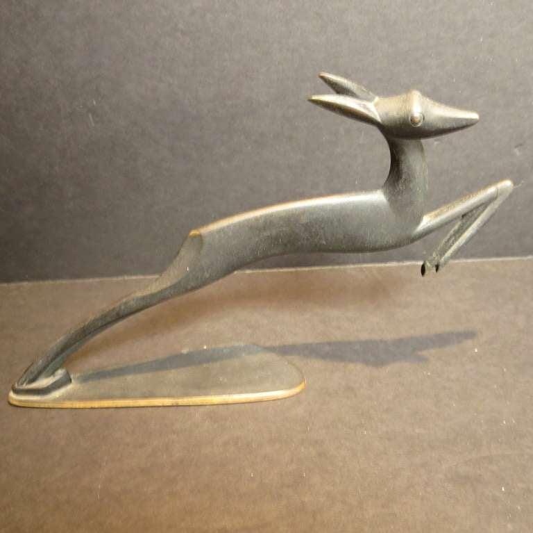 Bronze Deer Sculpture by Karl Hagenauer 2
