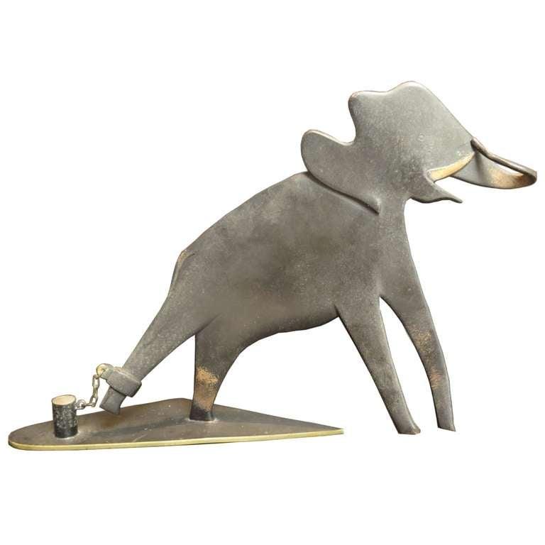 Bronze Elephant Sculpture by Karl Hagenauer 1
