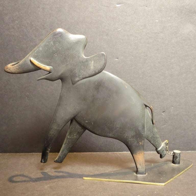 Bronze Elephant Sculpture by Karl Hagenauer 4