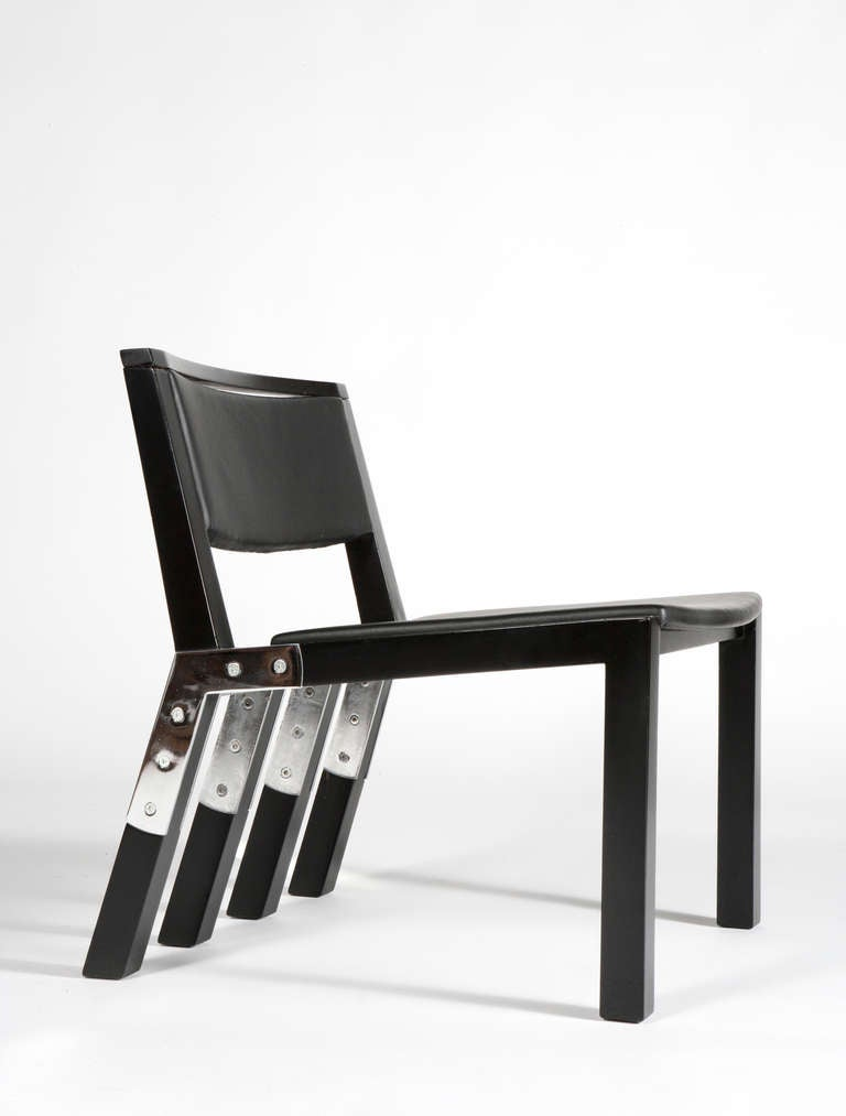 pair of jean michel wilmotte prototype chairs for the. Black Bedroom Furniture Sets. Home Design Ideas