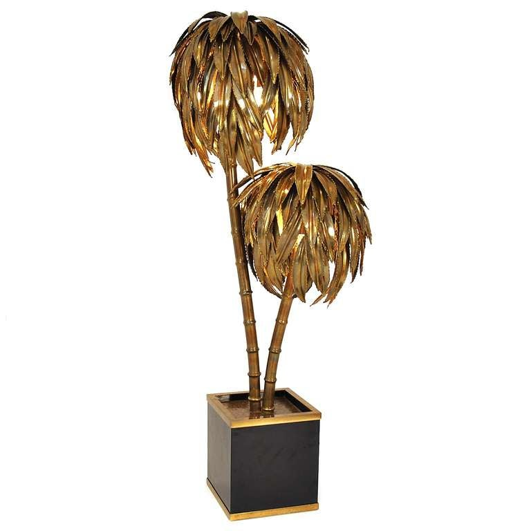 palm tree floor lamp made by maison jansen france circa 1970 image 2. Black Bedroom Furniture Sets. Home Design Ideas