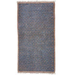 Geometric Baotou Inner Mongolian Sitting Rug with Brocade Pattern