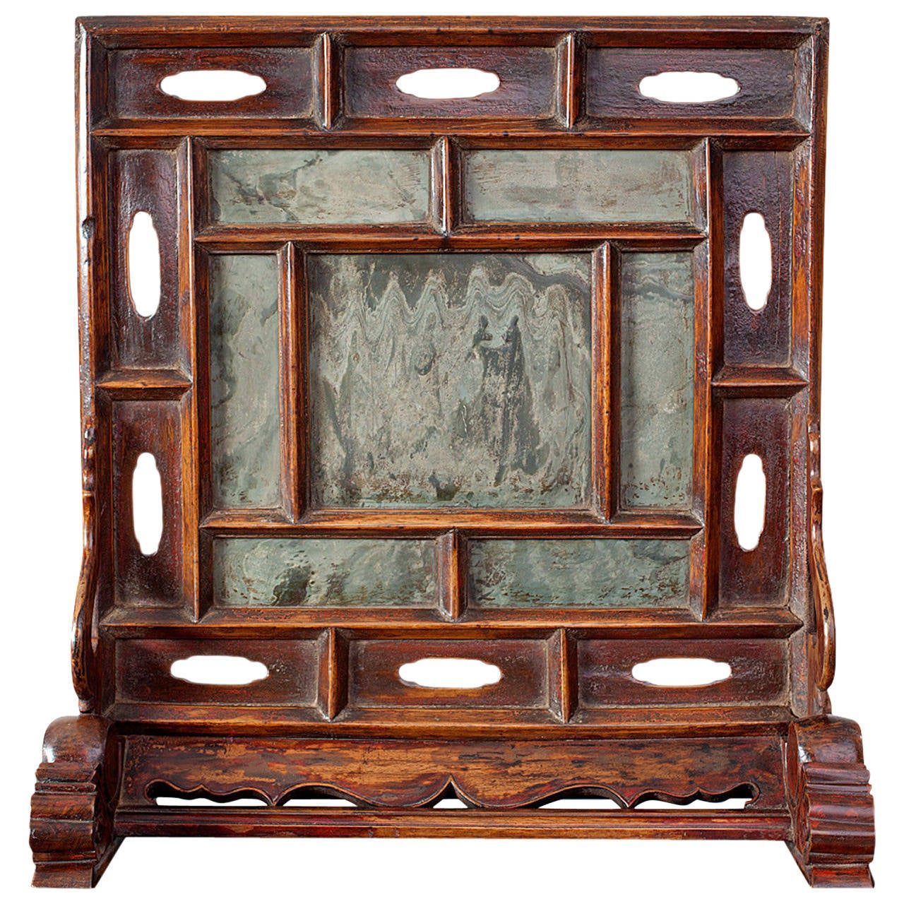 Rare ming dynasty chinese dreamstone table screen with for Chinese art furniture