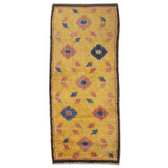 Antique Yellow Peony and Cloud Ningxia Monk Seat Temple Runner
