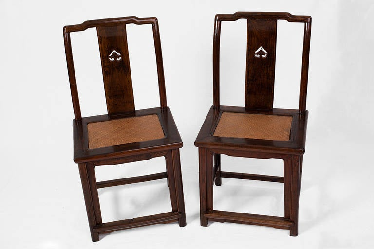 Pair of elegant antique chinese side chairs from suzhou for sale at 1stdibs - Vintage pieces of furniture old times elegance ...