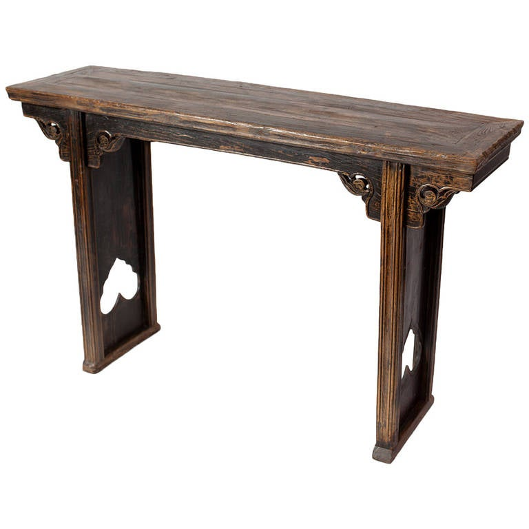 Vernacular 19th century chinese console altar table for for Antique chinese tables for sale