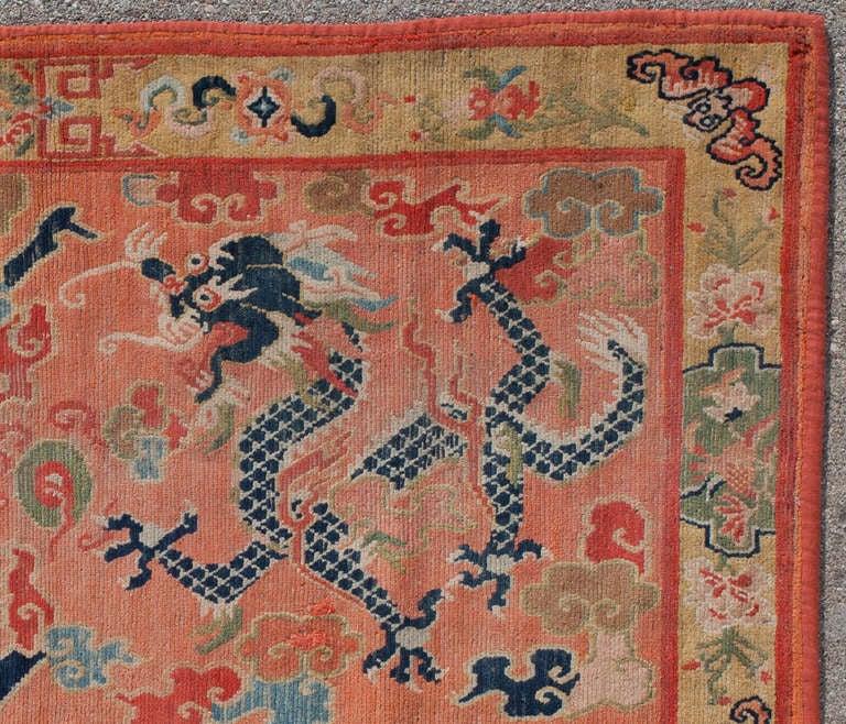 Tibetan Dragon Khaden Rug For Sale At 1stdibs