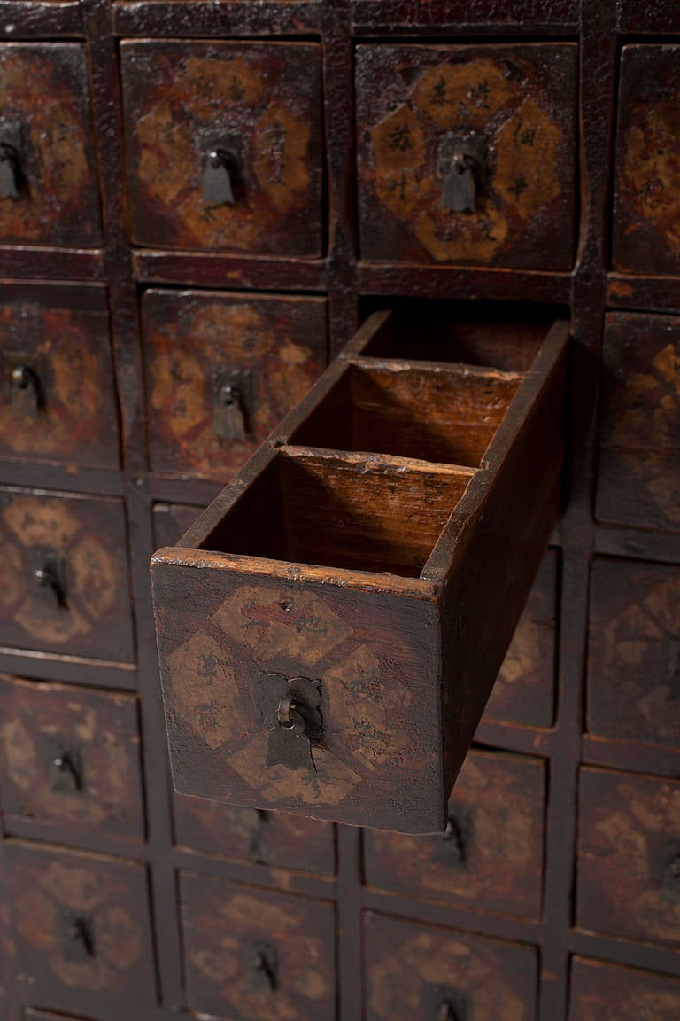 Antique Traditional Chinese Medicine Cabinet Apothecary