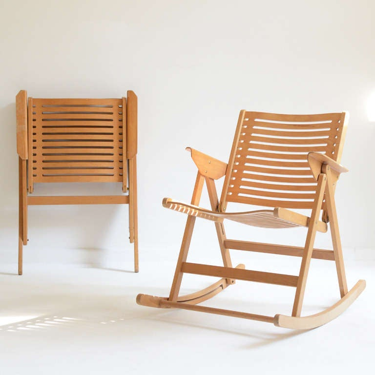 Niko Kralj Folding Rocking chairs at 1stdibs