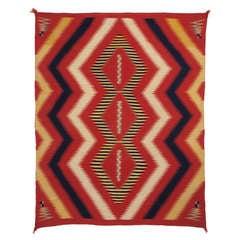Vintage Navajo Serape Wearing Blanket, circa 1875 (Late Classic Period)
