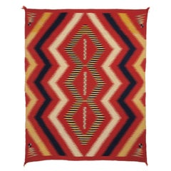 Vintage Navajo Serape Wearing Blanket, circa 1875 (Late Classic Period)