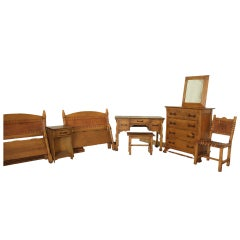 Vintage Monterey Furniture Bedroom Set, Spanish Revival, California, 1930s-1940s