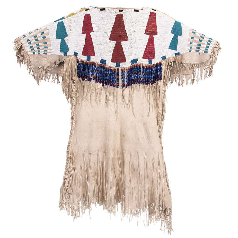 Native American Indian Beaded Dress Plateau Mid 19th